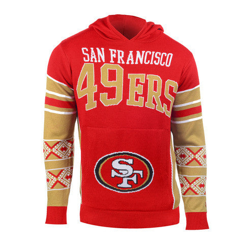 "San Francisco 49ers Official NFL ""Big Logo"" Hooded Sweatshirt by Klew"