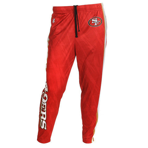 San Francisco 49ers Official NFL Men's Tapered Zip Up Pants