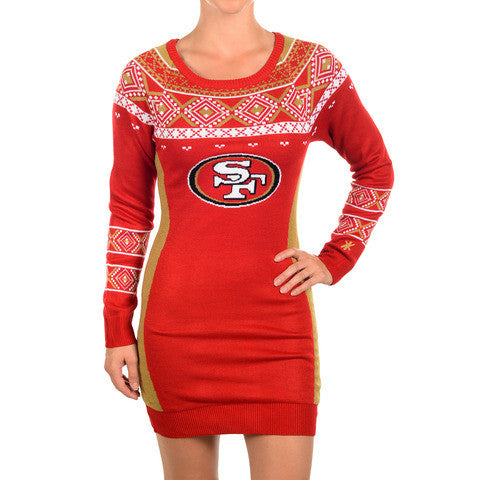 San Francisco 49ers Official NFL Sweater Dress by Klew