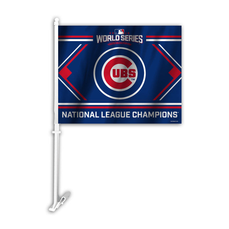 CHICAGO CUBS NL CHAMPS CAR FLAG