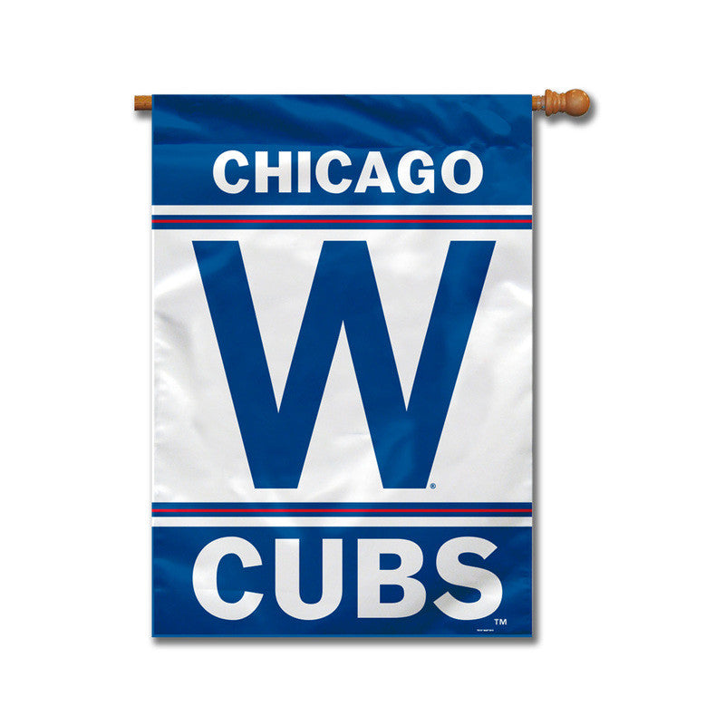 "CHICAGO CUBS OFFICIAL MLB 2-SIDED 28""X40"" HOUSE FLAG"
