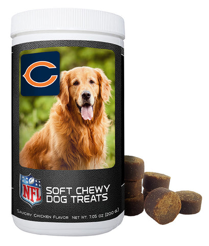 Chicago Bears Official NFL Soft Chewy Dog Treats 7oz