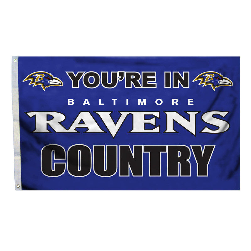 Baltimore Ravens Country 3X5 Flag