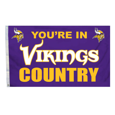 Minnesota Vikings Country 3X5 Flag