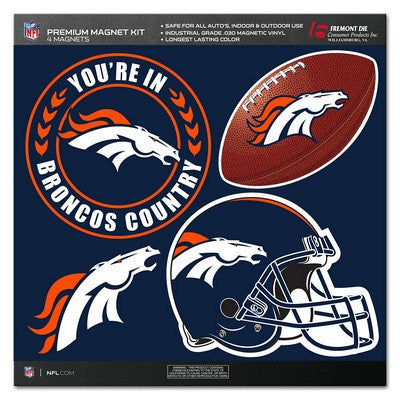 Denver Broncos Official NFL Premium Magnet Kit