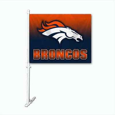Denver Broncos Official NFL Ombre Car Flag