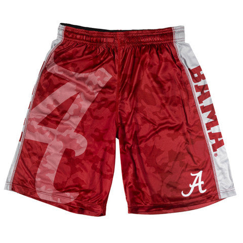 Alabama Crimson Tide Official NCAA Big Logo Camo Shorts