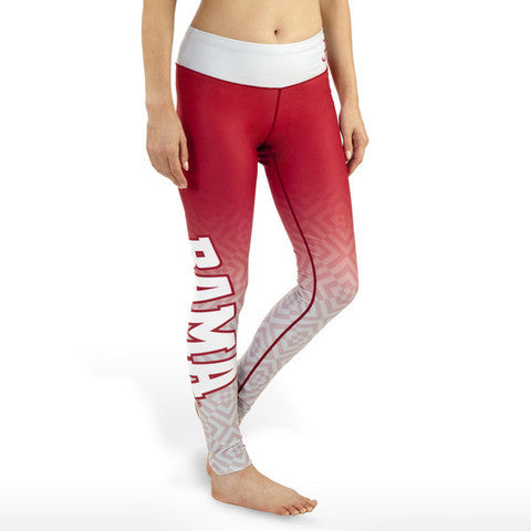 Alabama Crimson Tide Womens Gradient Print Leggings