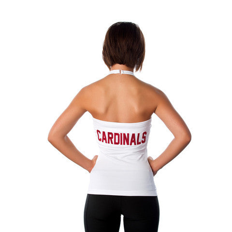 "Arizona Cardinals Women's Official NFL ""Blown Coverage"" White Halter"