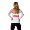 "Arizona Cardinals Women's Official NFL ""Wildkat"" White Top"