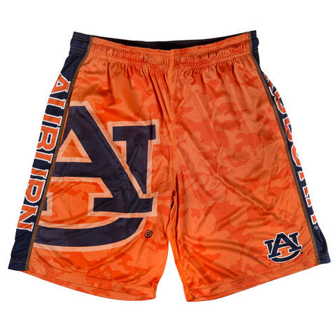 Auburn Tigers Official NCAA Big Log Camo Shorts
