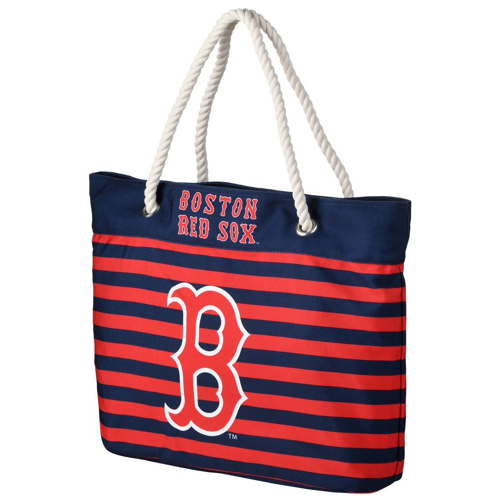 Boston Red Sox Official MLB Nautical Stripe Tote Bag (PRE-ORDER:  ARRIVES MID TO LATE APRIL:    )