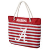 Alabama Crimson Tide Official NCAA Nautical Stripe Tote Bag (PRE-ORDER:  ARRIVES MID TO LATE APRIL:    )