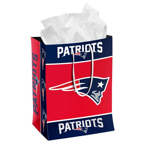 New England Patriots Official NFL Medium Gift Bag