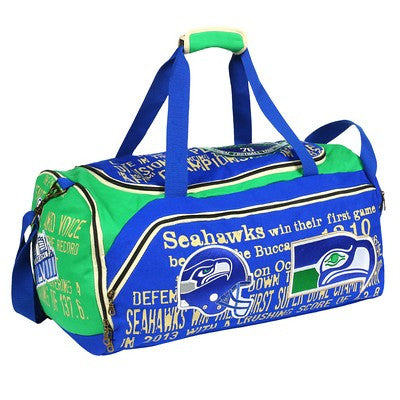 Seattle Seahawks Official NFL Historical Art Duffle Gym/sport Bag