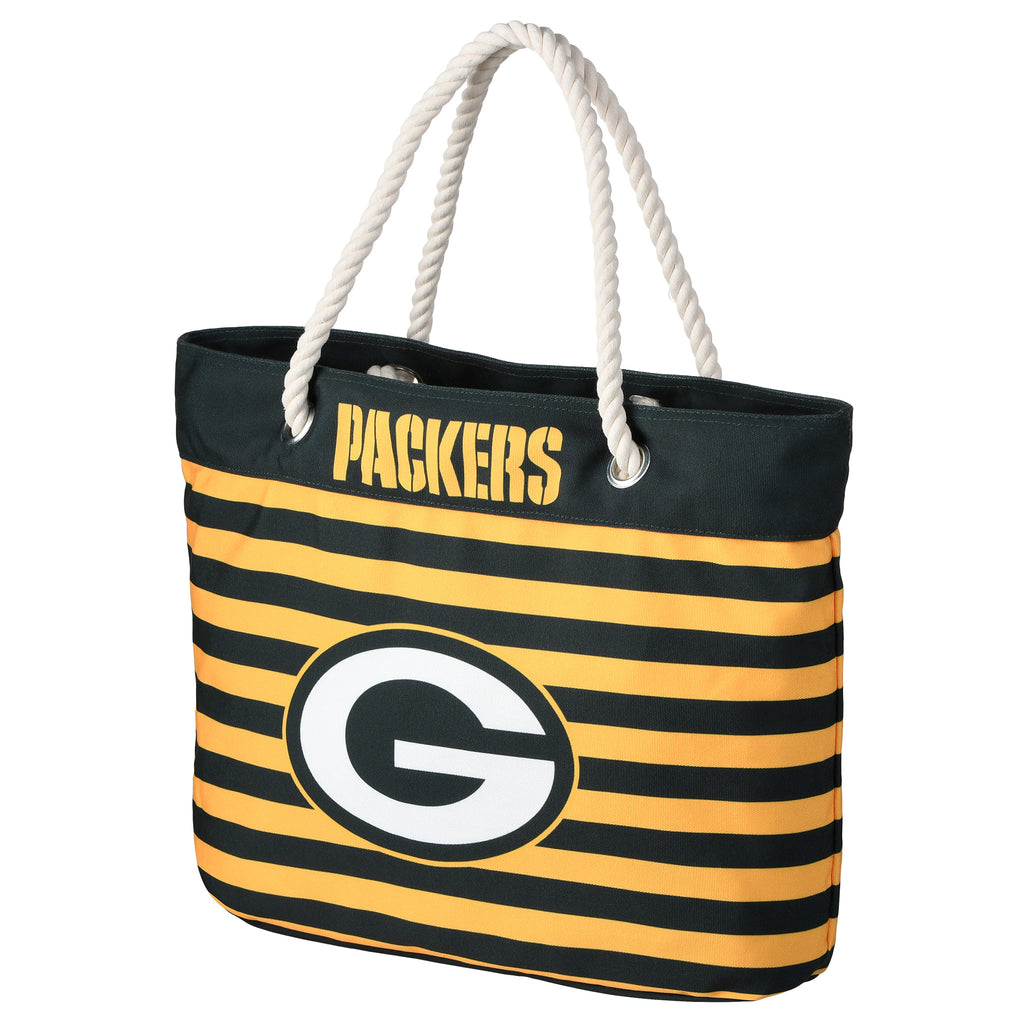 Green Bay Packers Official NFL Nautical Stripe Tote Bag (PRE-ORDER:  ARRIVES MID TO LATE APRIL:    )