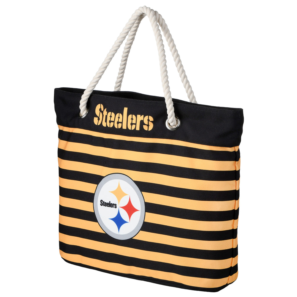 Pittsburgh Steelers Official NFL Nautical Stripe Tote Bag (PRE-ORDER:  ARRIVES MID TO LATE APRIL:    )