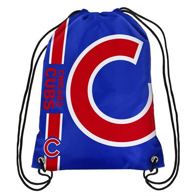 Chicago Cubs Official MLB Team Logo Drawstring Backpack