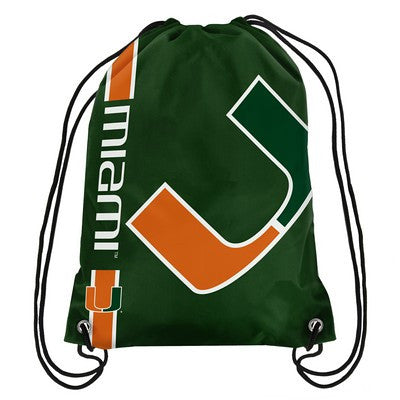 Miami Hurricanes Official NCAA Team Logo Drawstring Backpack
