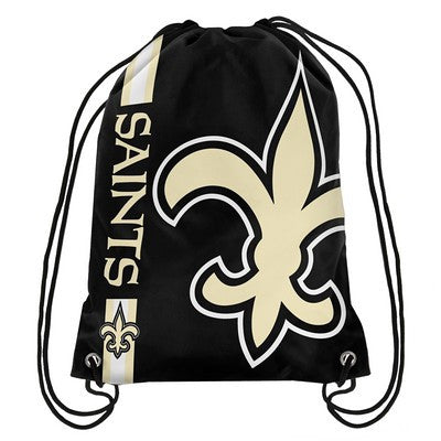 New Orleans Saints Official NFL Team Logo Drawstring Backpack