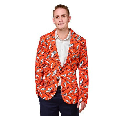 Denver Broncos Official NFL Repeat Logo Ugly Business Jacket