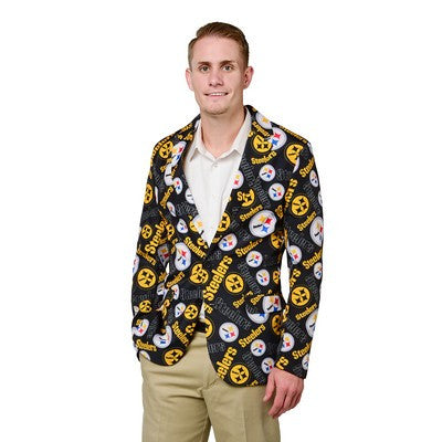 Pittsburgh Steelers Official NFL Repeat Logo Ugly Business Jacket