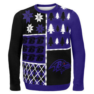 Baltimore Ravens Official NFL Ugly Sweater - Choose your Style!