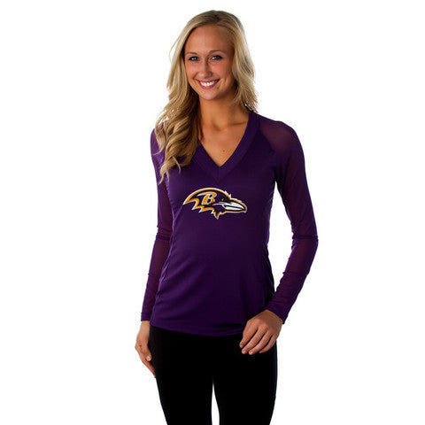 "Baltimore Ravens Women's Official NFL ""Wildkat"" Top"