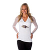 "Baltimore Ravens Women's Official NFL ""Wildkat"" White Top"