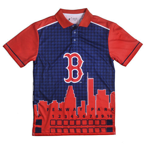 Boston Red Sox Official MLB Thematic Polyester Polo Shirt