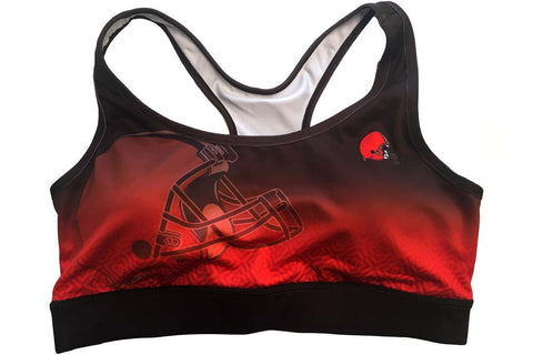 Cleveland Browns Women's Official NFL Gradient Sports Bra