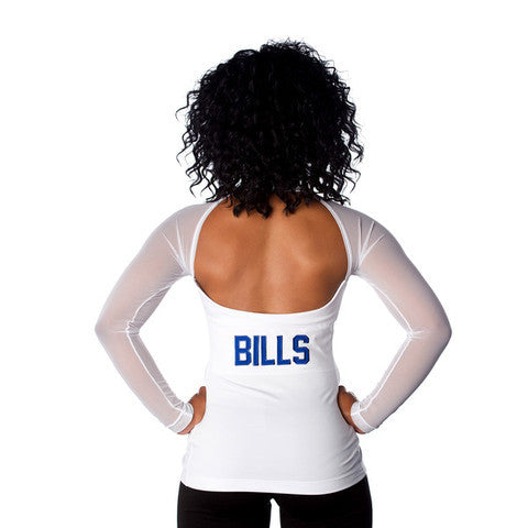 "Buffalo Bills Women's Official NFL ""Wildkat""  White Top"