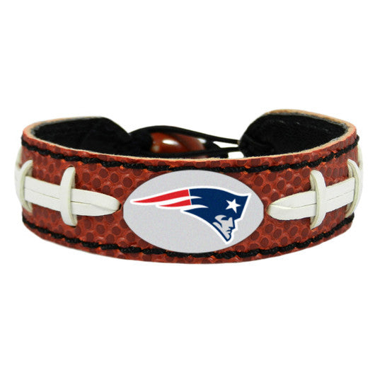New England Patriots Classic NFL Football Bracelet