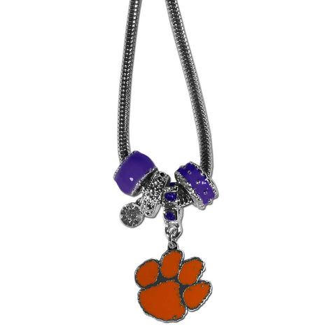 Clemson Tigers Official NCAA Euro Bead Necklace / Bracelet