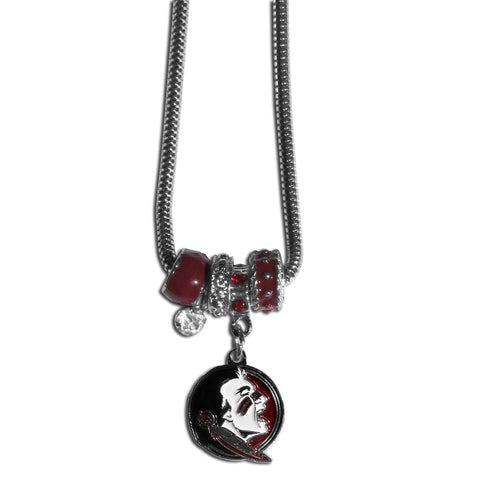 Florida St. Seminoles Official NCAA Euro Bead Necklace / Bracelet