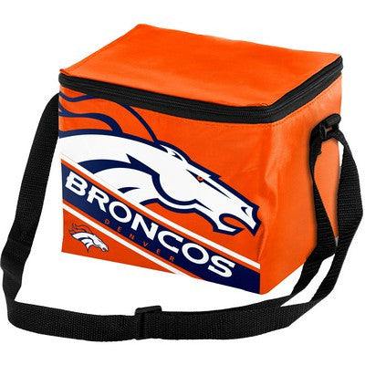 Denver Broncos Official NFL Big Logo Stripe 6 Pack Cooler