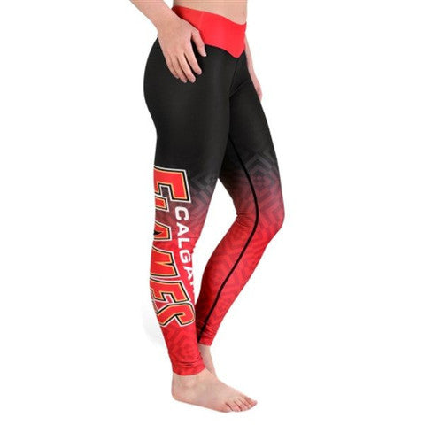 Calgary Flames Womens Official NHL Gradient Print Leggings