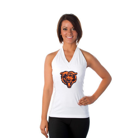 "Chicago Bears Women's Official NFL ""Blown Coverage"" White Halter"