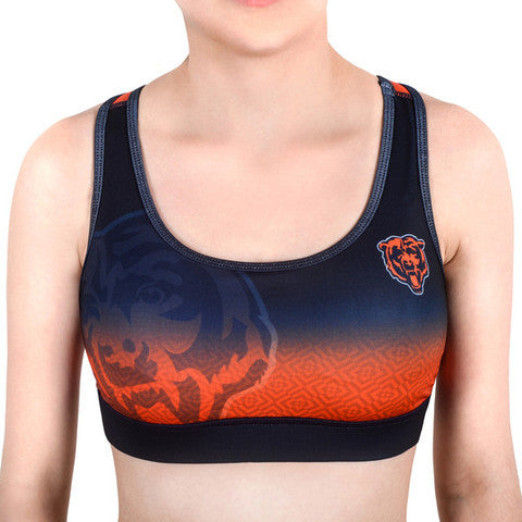 Chicago Bears Women's Official NFL Gradient Sports Bra