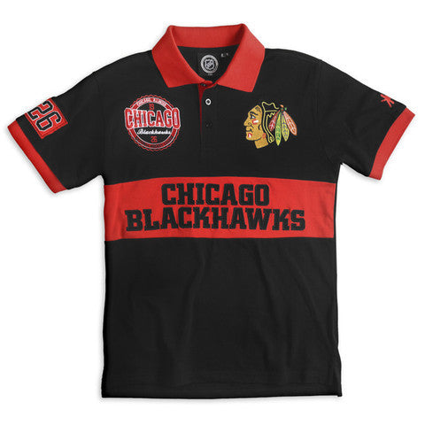 Chicago Blackhawks Official NHL Wordmark Cotton/Poly Polo