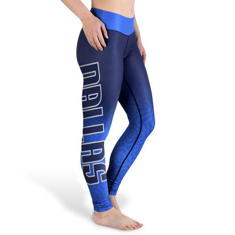 Dallas Mavericks Womens Official NBA Gradient Print Leggings