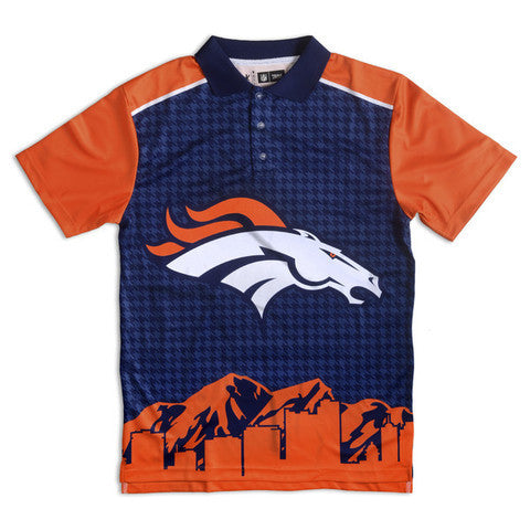 Denver Broncos Official NFL Thematic Polyester Polo Shirt