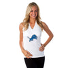"Detroit Lions Women's Official NFL ""Blown Coverage"" White Halter"