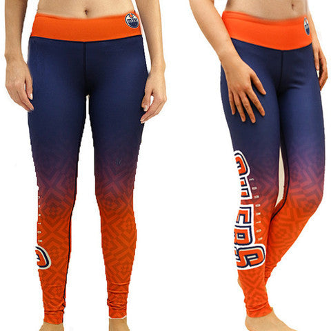 Edmonton Oilers Womens Official NHL Gradient Print Leggings