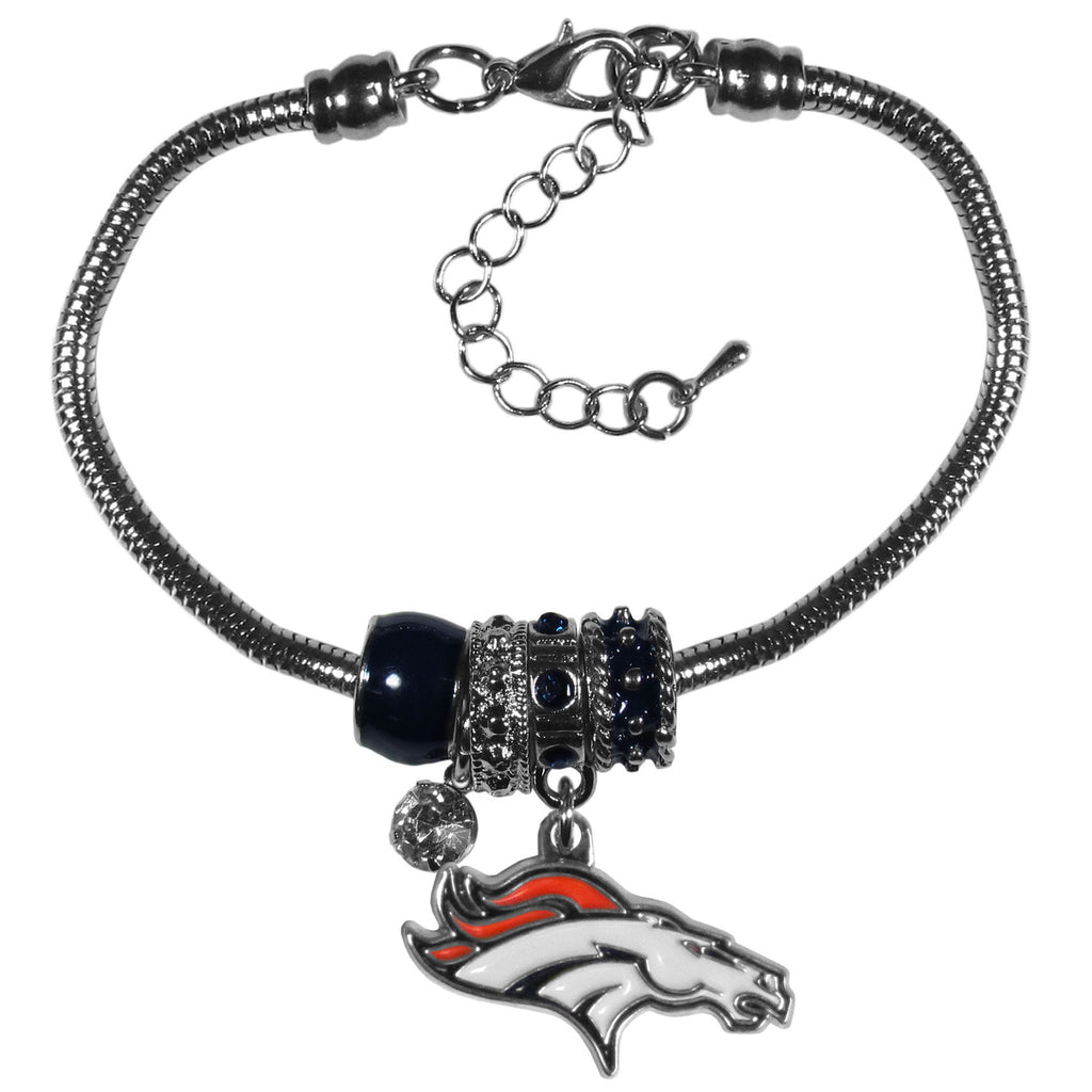 Denver Broncos Official NFL Euro Bead Necklace/Bracelet