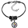Pittsburgh Steelers Official NFL Euro Bead Necklace / Bracelet