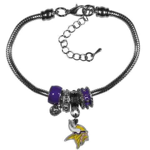 Minnesota Vikings Official NFL Euro Bead Necklace / Bracelet