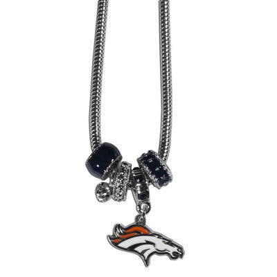 Denver Broncos Official NFL Euro Bead Necklace