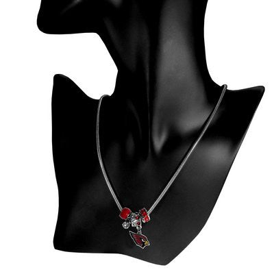 Arizona Cardinals Official NFL Euro Bead Necklace/Bracelet
