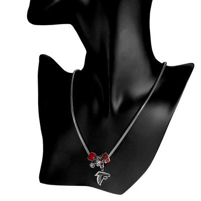 Atlanta Falcons Official NFL Euro Bead Necklace/Bracelet